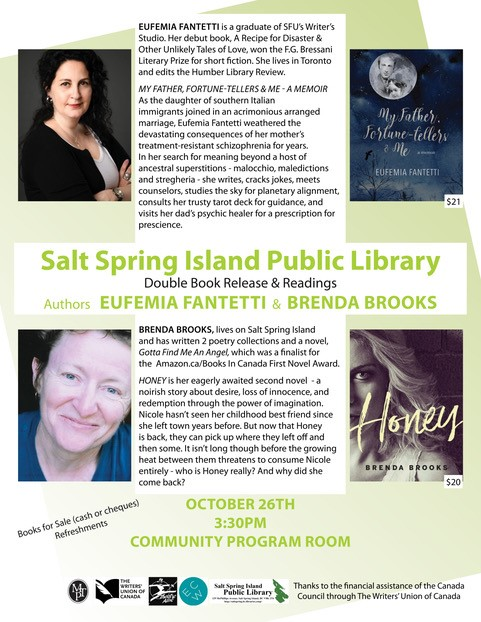 Eufemia Fantetti and Brenda Brooks @ Community Program Room