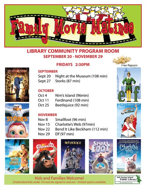 Family Movie Matinee @ Community Program Room