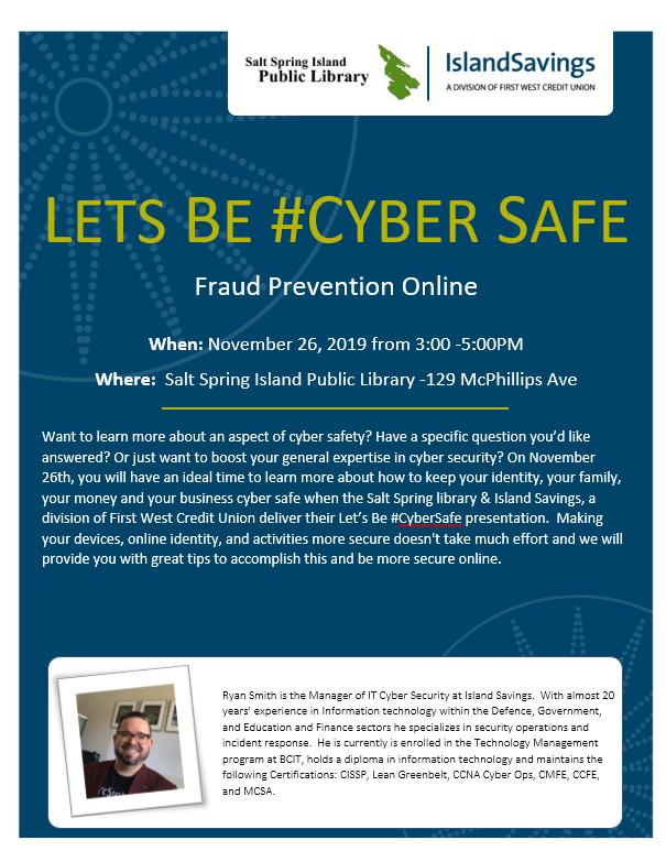 Tech Café: Fraud Prevention @ Community Program Room