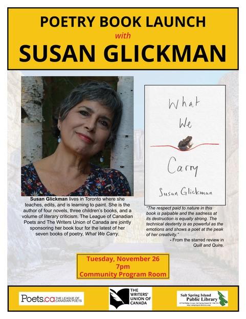Susan Glickman @ Community Program Room