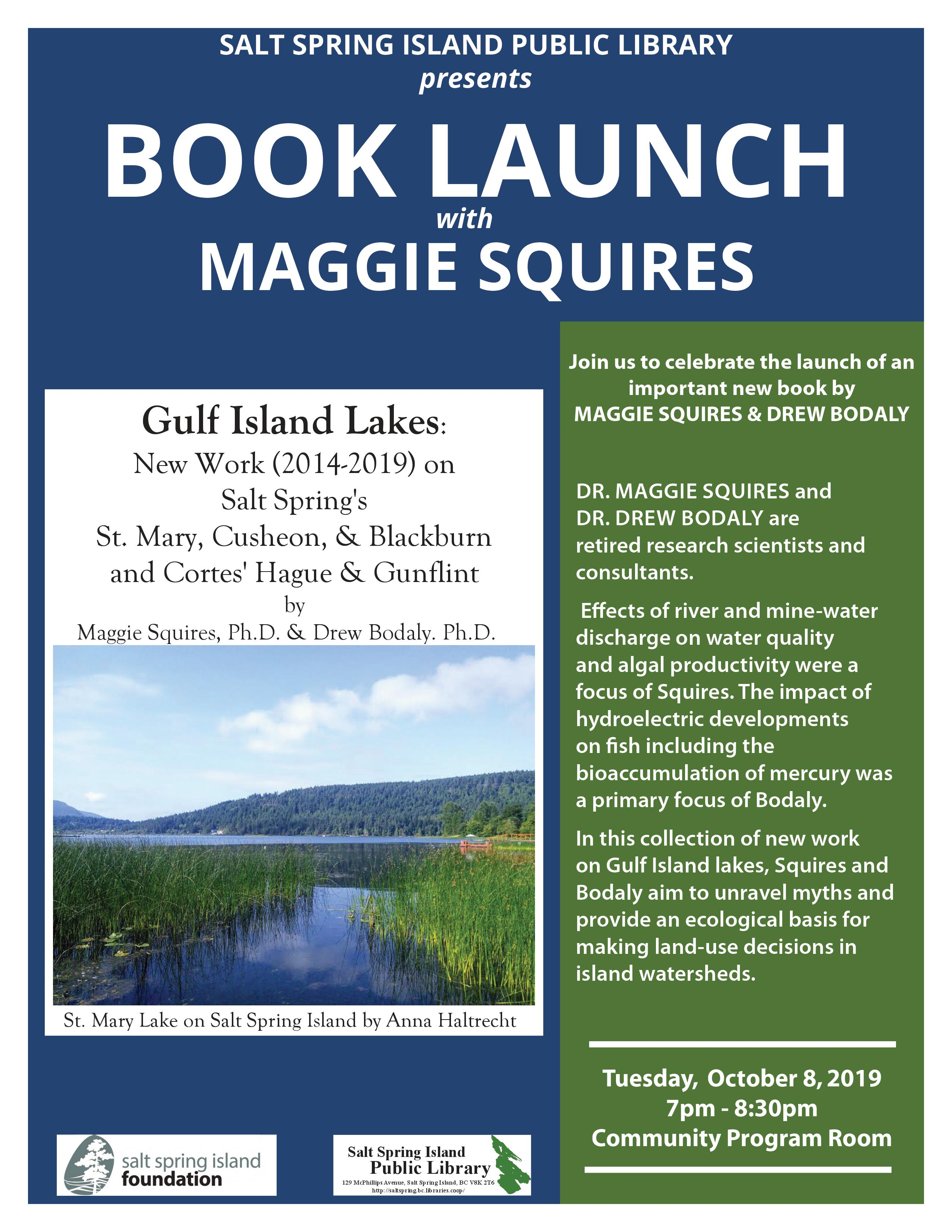 Maggie Squires and Drew Bodaly @ Community Program Room