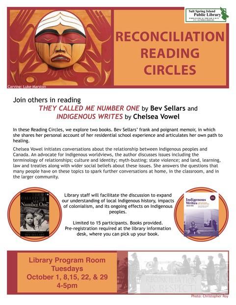 Reconciliation Reading Circles @ Community Program Room