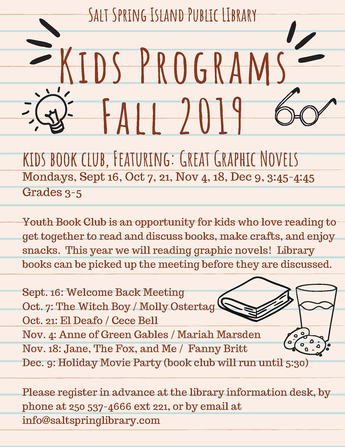 Kids Program - Fall 2019