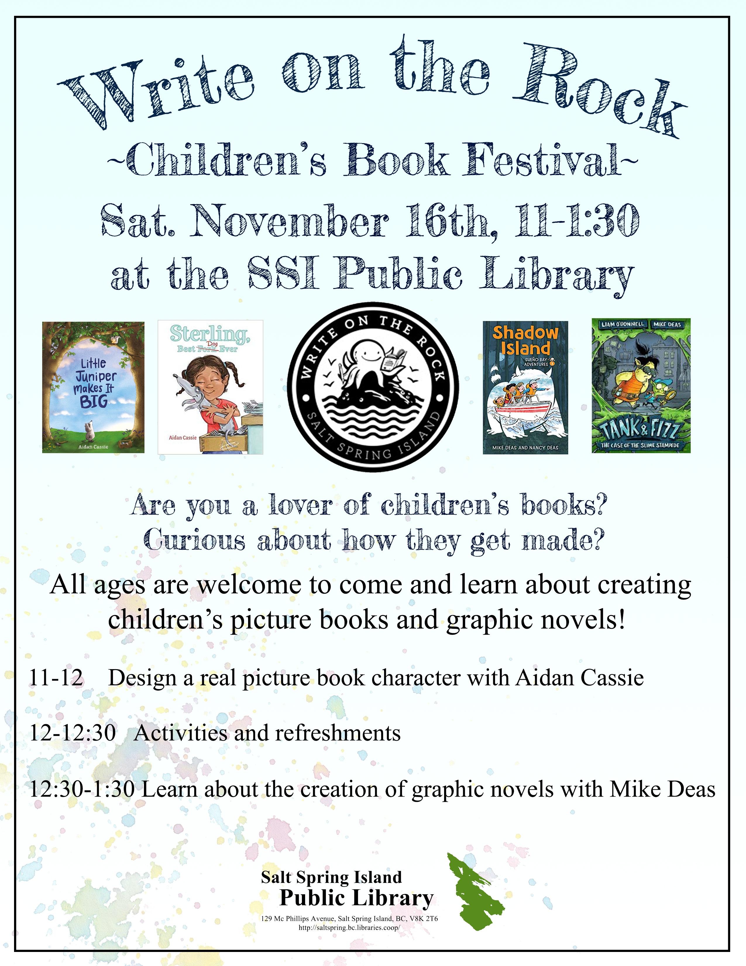 Write on the Rock Children's Book Festival @ Community Program Room