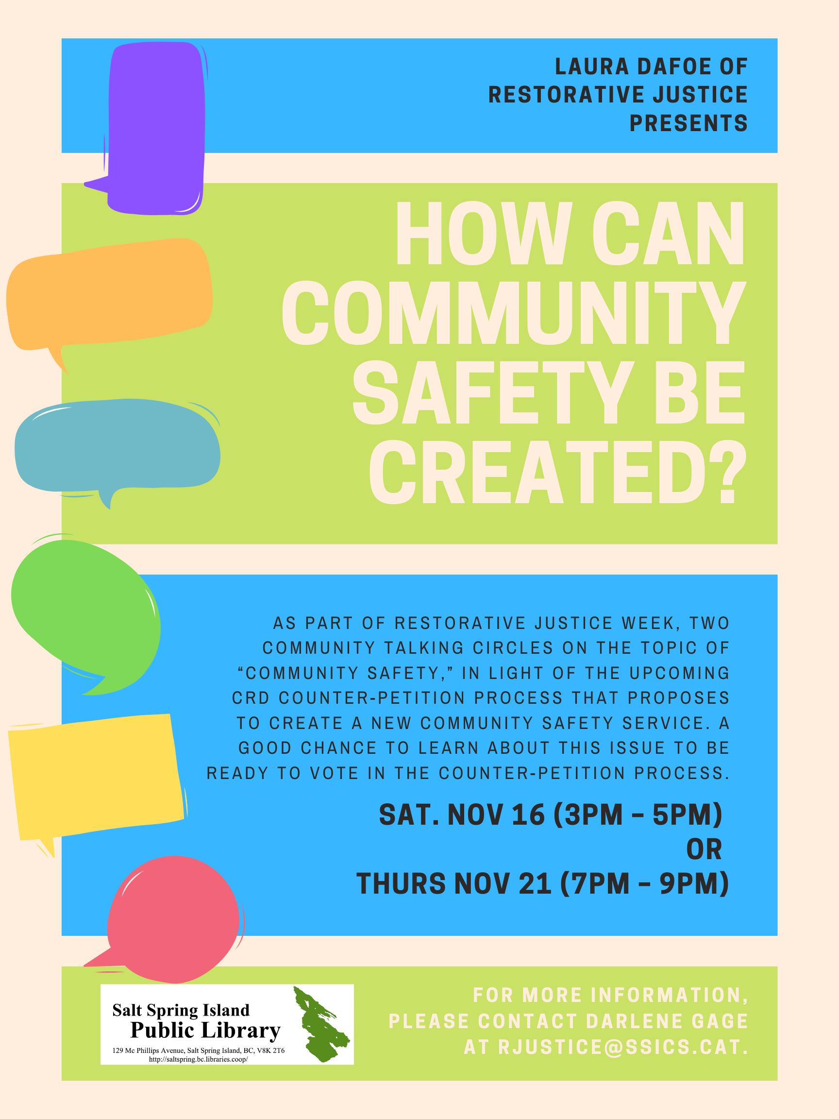 Community Safety @ Community Program Room