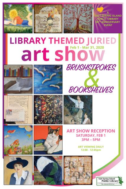 Brushstrokes & Bookshelves Art Show @ Community Program Room