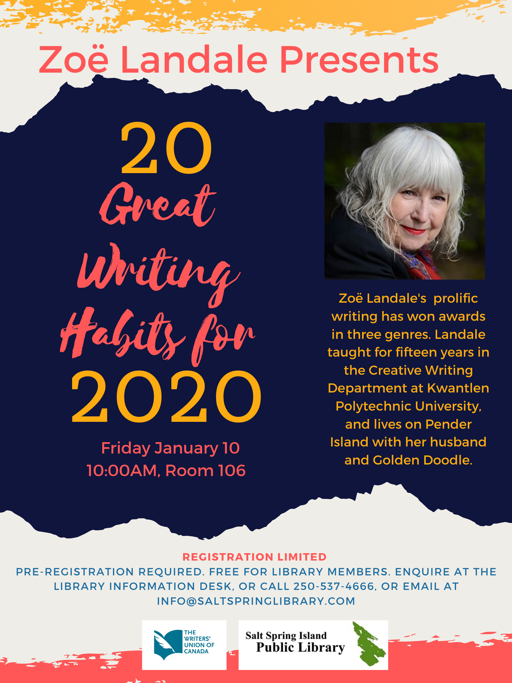 20 Great Writing Habits for 2020 @ Library Meeting Room 106