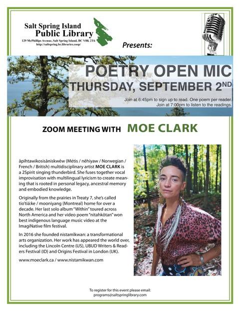 Zoom Poetry Open Mic @ Zoom Video Meeting