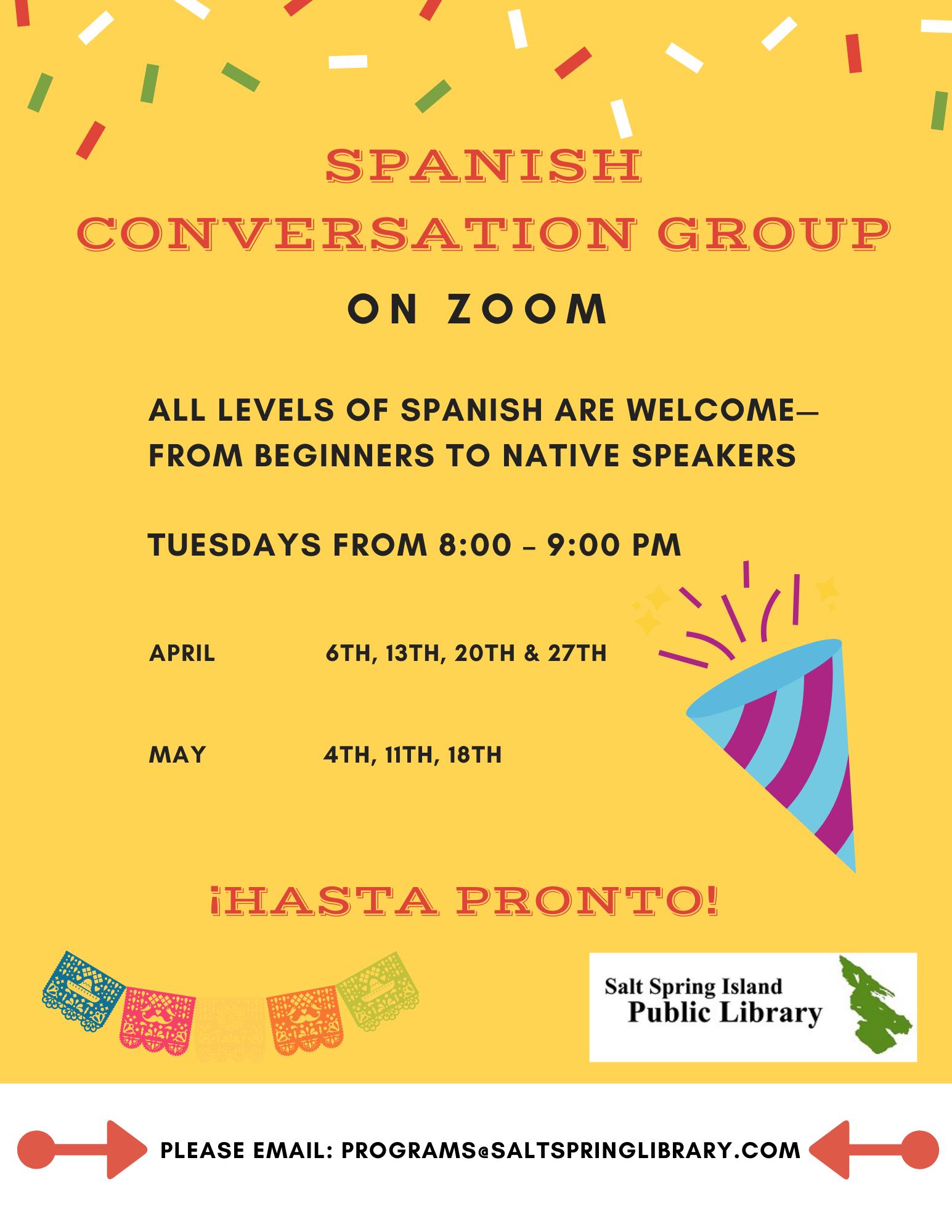 Zoom Spanish Conversation Group @ Zoom Video Meeting